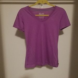 Nike dri fit purple workout shirt